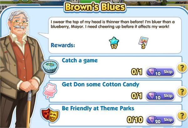 SimCity Social, Brown's Blues