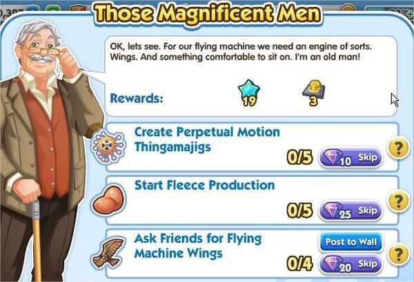 SimCity Social, Those Magnificent Man