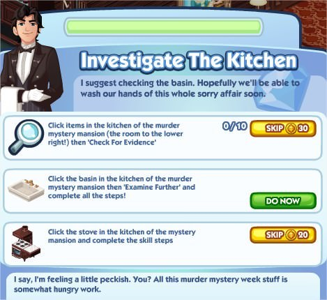 The Sims Social, Investigate The Litchen
