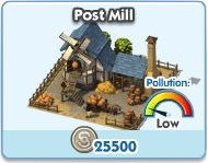 SimCity Social, Post Mill