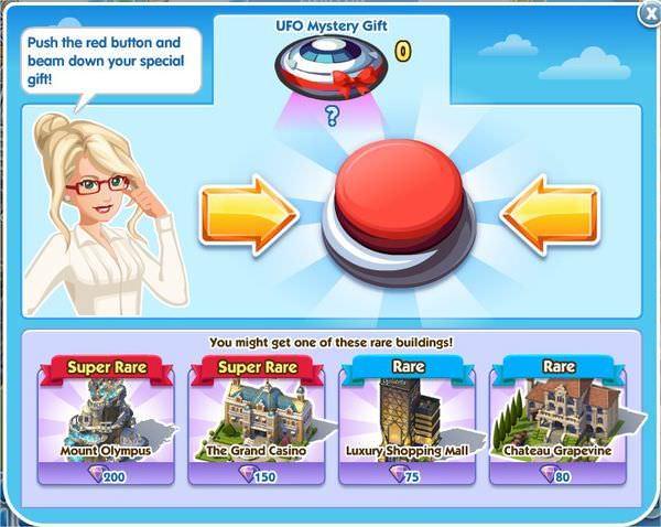 SimCity Social, UFO Mystery Gift(飛碟神秘禮物)