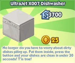 The Sims Social, UltraJet X007 Dishwasher