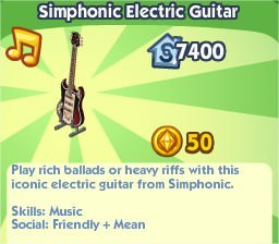 The Sims Social, Simphonic Electric Guitar
