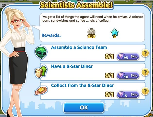SimCity Social, Scientists Assemble!