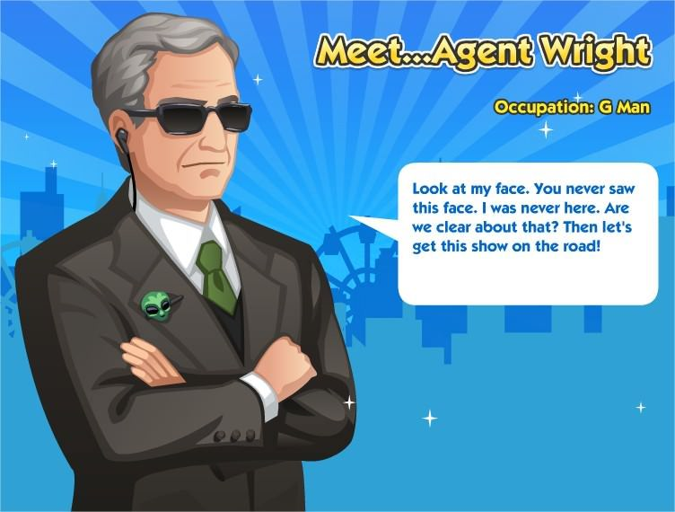 SimCity Social, Agent Wright