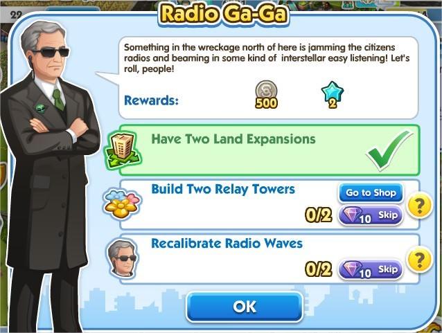 SimCity Social, Radio Ga-Ga