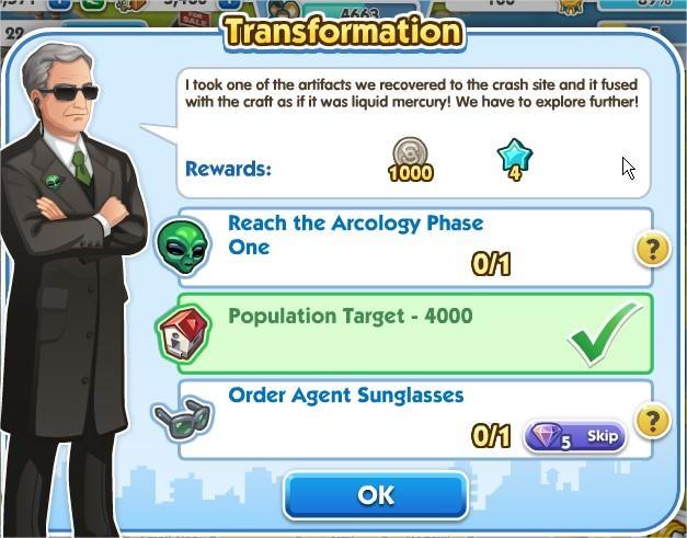 SimCity Social, Transformation