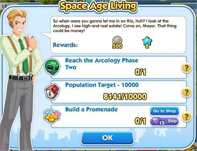 SimCity Social, Space Age Living