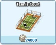 SimCity Social, Tennis Court