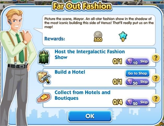 SimCity Social, Far Out Fashion