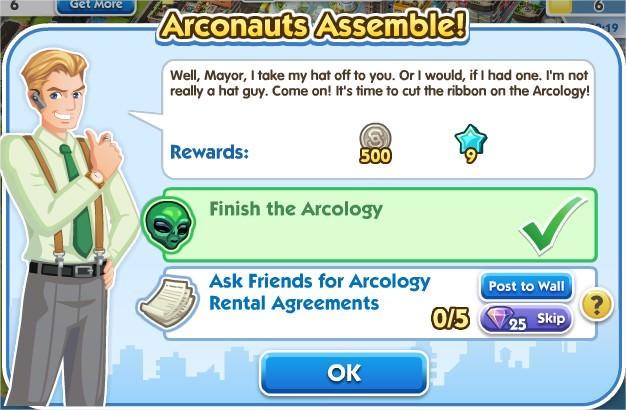 SimCity Social, Arconauts Assemble!