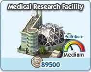 SimCity Social, Medical Research Facility