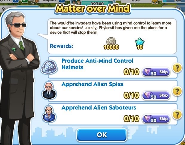 SimCity Social, Matter over Mind