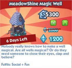 The Sims Social, MeadowShine Magic Well