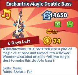 The Sims Social, Enchantrix Magic Double Bass