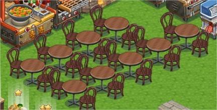 ChefVille(廚師小鎮)桌椅