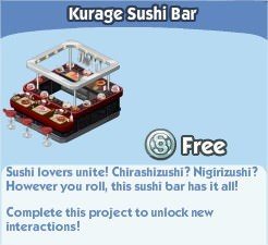 The Sims Social, Kurage Sushi Bar