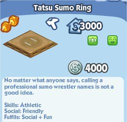 SimCity Social, Tatsu Sumo Ring