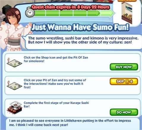 The Sims Social, Just Wanna Have Sumo Fun! 6