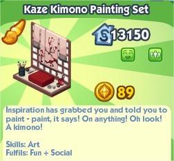 The Sims Social, Kaze Kimono Painting Set