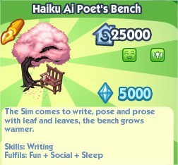 The Sims Social, Haiku Ai Poet