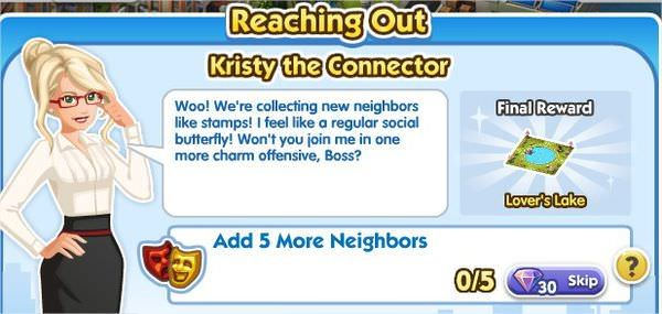 SimCity Social, Kristy the Connector