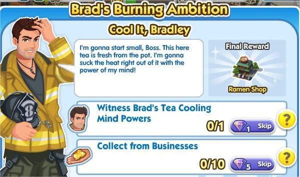 SimCity Social, Cool It, Bradley