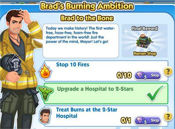 SimCity Social, Brad to the Bone