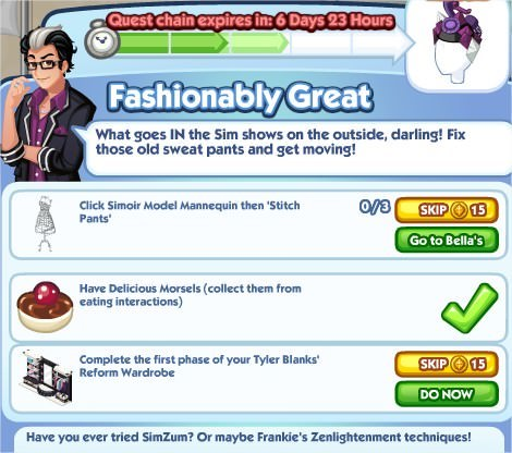 The Sims Social, Fashionably Great 3