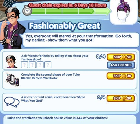 The Sims Social, Fashionably Great 5