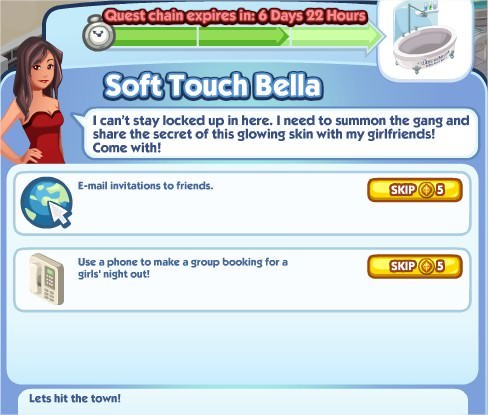 The Sims Social, Soft Touch Bella 3