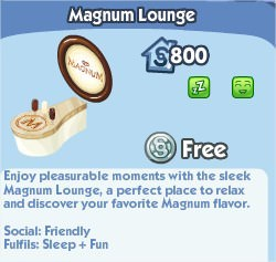The Sims Social, Magnum Lounge