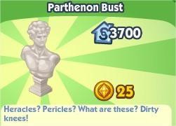 The Sims Social, Parthenon Bust