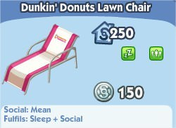 The Sims Social, Dunkin