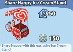 The Sims Social, Heart Brand Ice Cream Stand