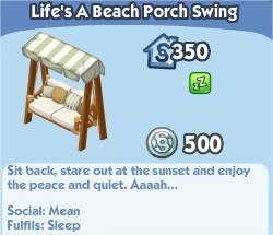 The Sims Social, Life