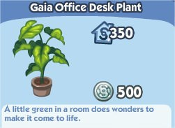 The Sims Social, Gaia Office Desk Plant