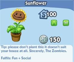 The Sims Social, Sunflower