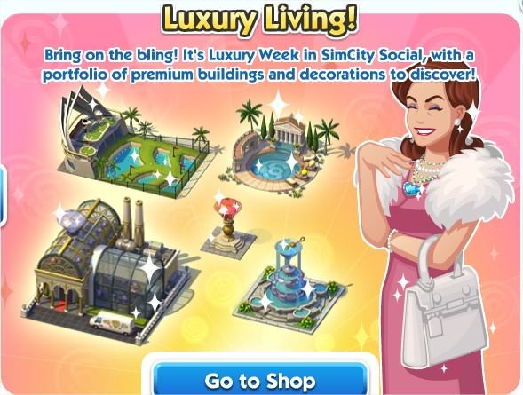 SimCity Social, luxury living