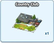 SimCity Social, Country Club