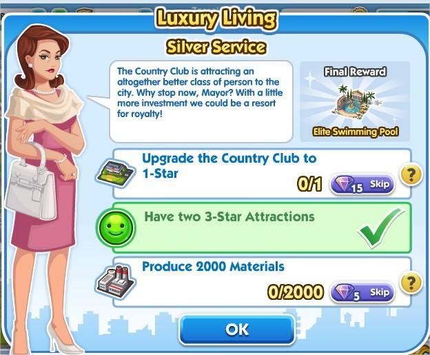 SimCity Social, Sliver Service
