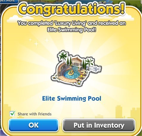 SimCity Social, Elite Swimming Pool