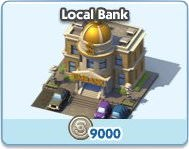 SimCity Social, Local Bank