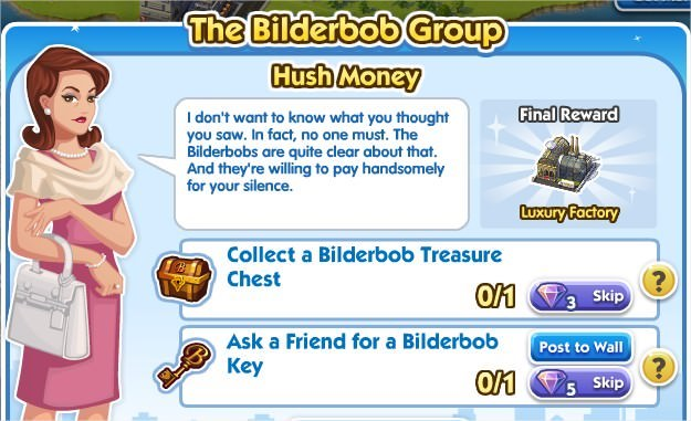 SimCity Social, Hush Money