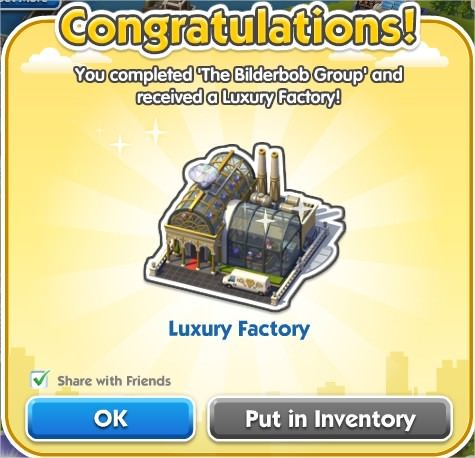 SimCity Social, Luxury Factory