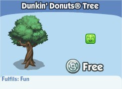 The Sims Social, Dunkin' Donuts® Tree
