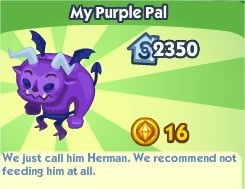 The Sims Social, My Purple Pal