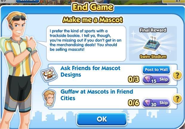 SimCity Social, Make me a Mascot
