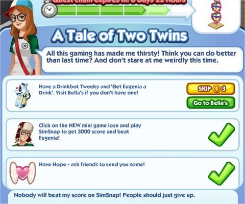 The Sims Social, A Tale of Two Twins 5