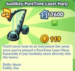 The Sims Social, Audikey PureTone Lazer Harp